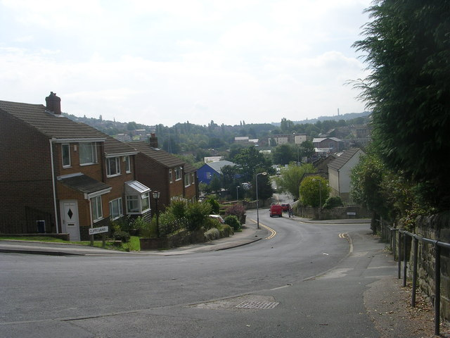Cliffe Lane - viewed from Cliffe Terrace