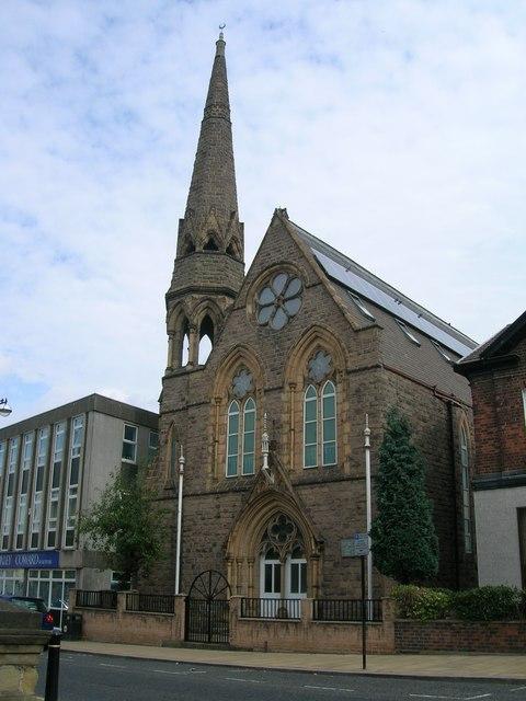 Moorgate Street Mosque, Rotherham previously the Unitarian Church
