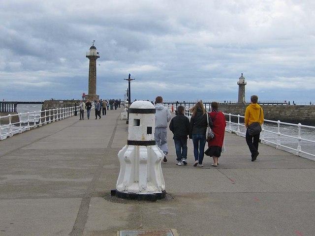 A bracing walk along West Pier