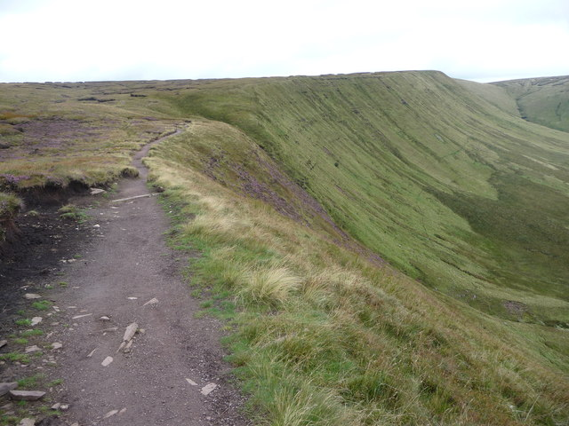 Part of the Beacons Way at Blaen Caerfanell