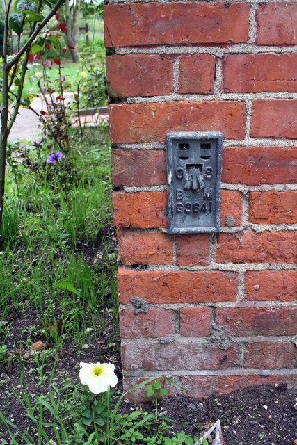 Benchmark on Rosehurst Farm house