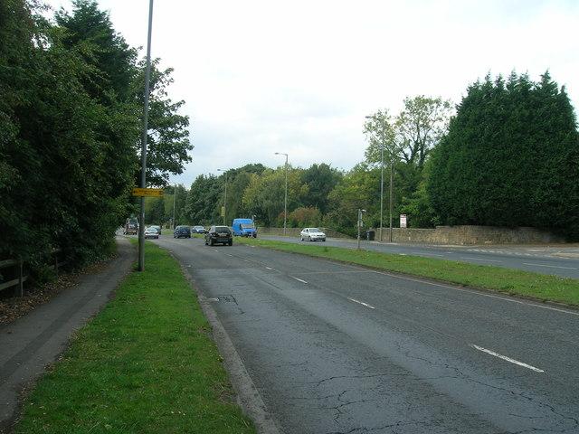 A631 towards Rotherham