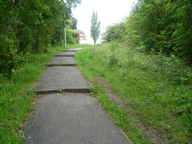 Looking up the steps to Knight's Hill