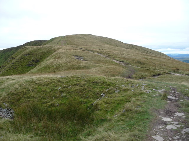 Walker on part of the Beacons Way