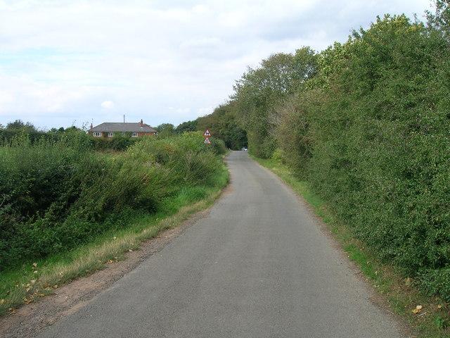 Common Lane towards Conisbrough