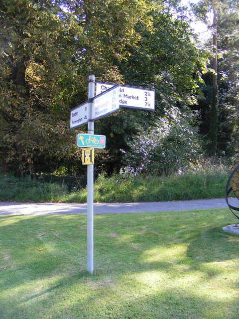Roadsign at The Street/Park Road junction