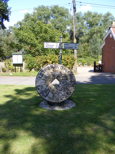Letheringham Village sign & roadsign
