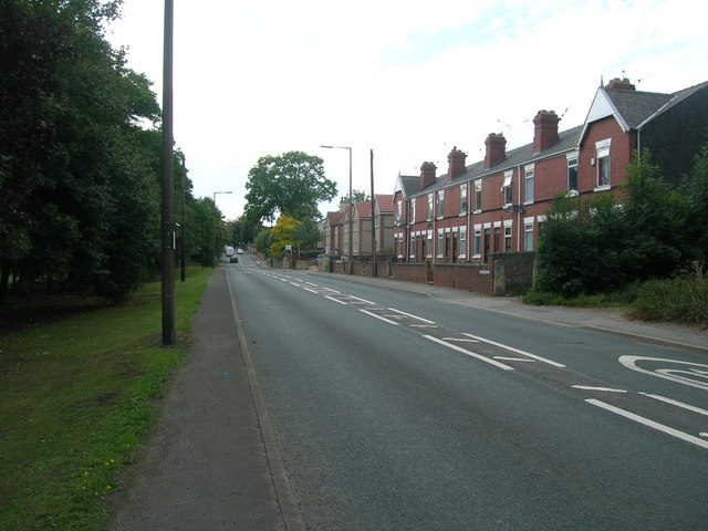 Sheffield Road (A630) towards Rotherham