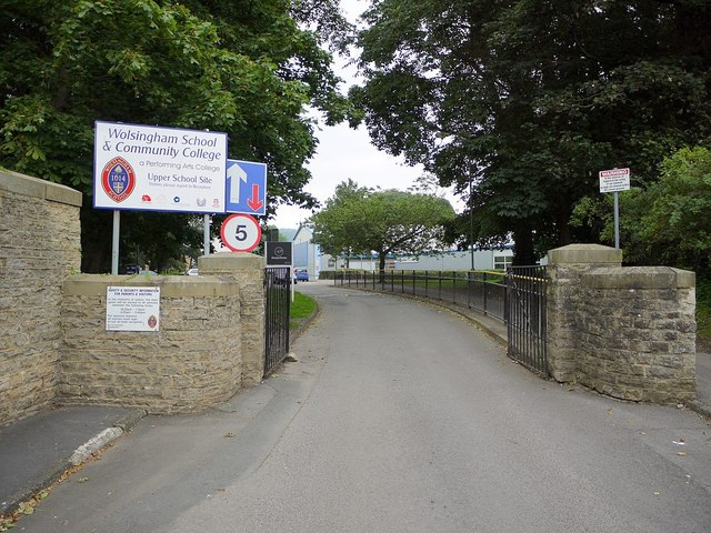 Entrance to Wolsingham School & Community College