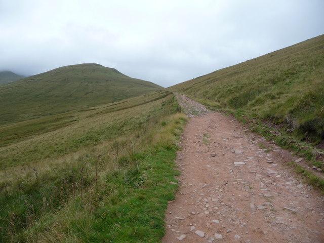 The Gap Road below Bwlch ar y Fan