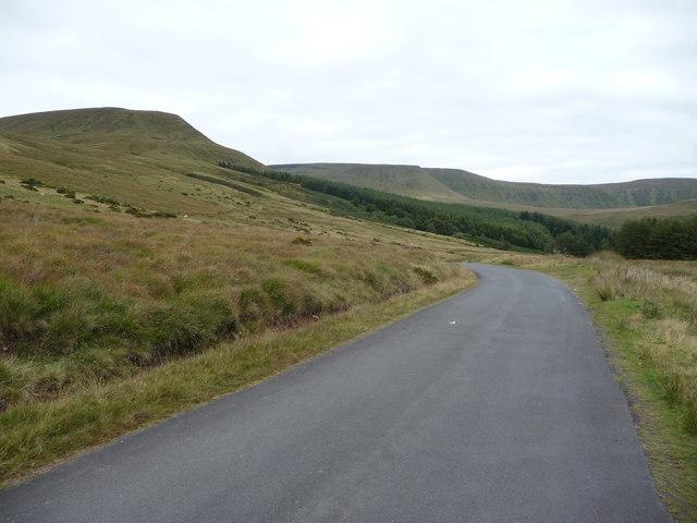 Part of the Taff Trail below Craig y Fan Ddu