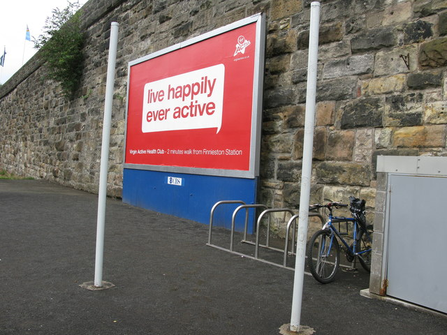 Poster at Exhibition Centre railway station