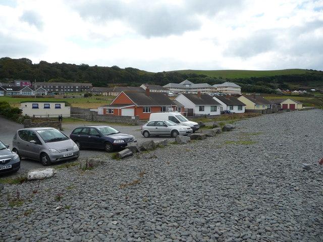 Behind the storm beach, Aberaeron
