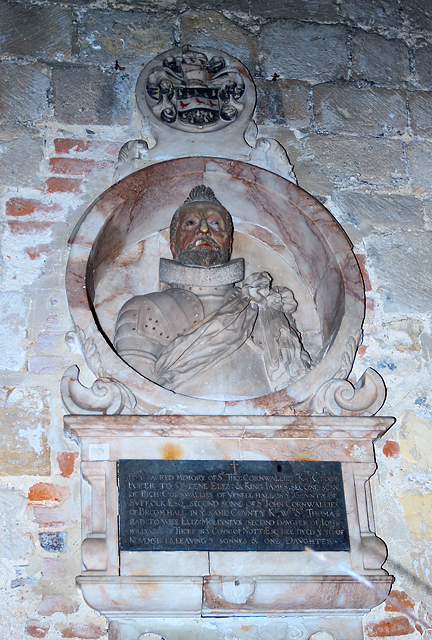 Monument to Sir Thomas Cornwallis, St Mary's church Portchester Castle