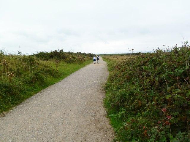 Pennington Marshes, footpath