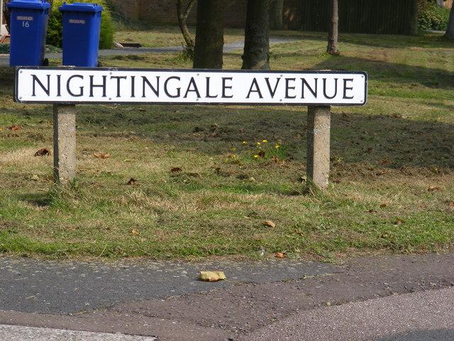 Nightingale Avenue, Reydon sign