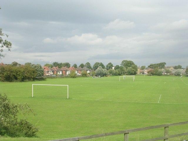 Playing Fields - viewed from Gelderd Road