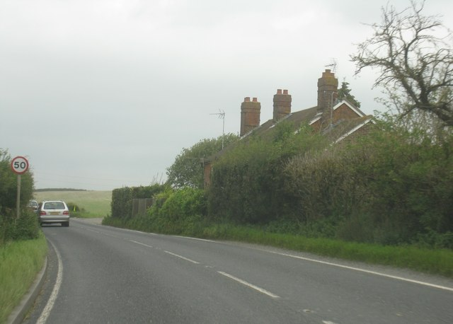 A339 - passing Pitt Hall cottages