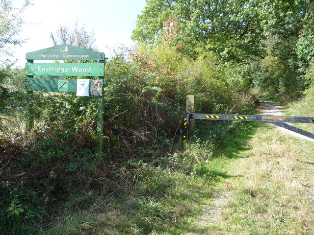 Forestry Commission sign at Eastridge Wood