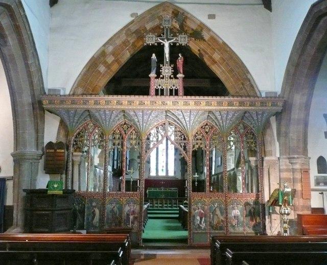 Chancel screen in All Saints Church, Earls Barton