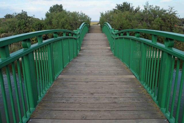 Footbridge over the Lake, Cleethorpes