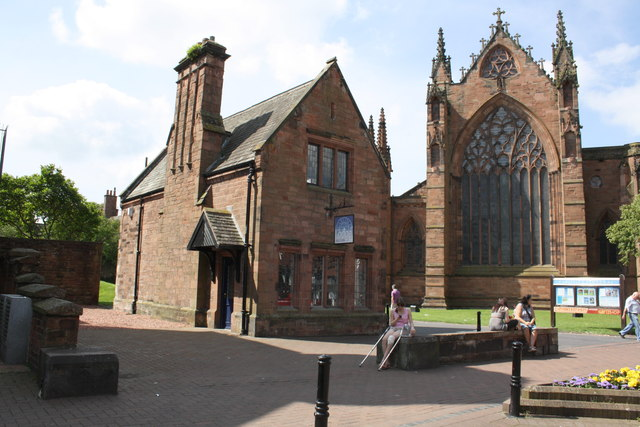 The Lodge and east end of the Cathedral
