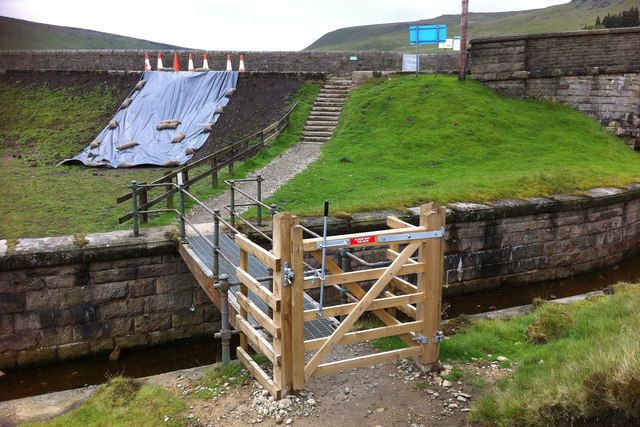 Bridge across the spillway at Widdop Reservoir