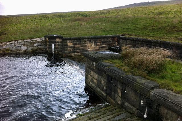 Spillway at Gorple Upper Reservoir