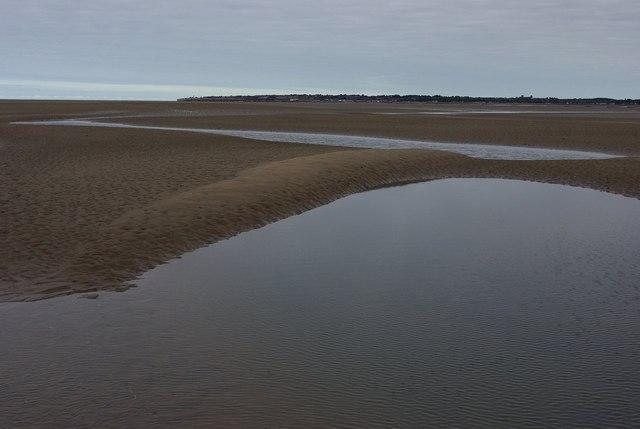Pools between sandbanks