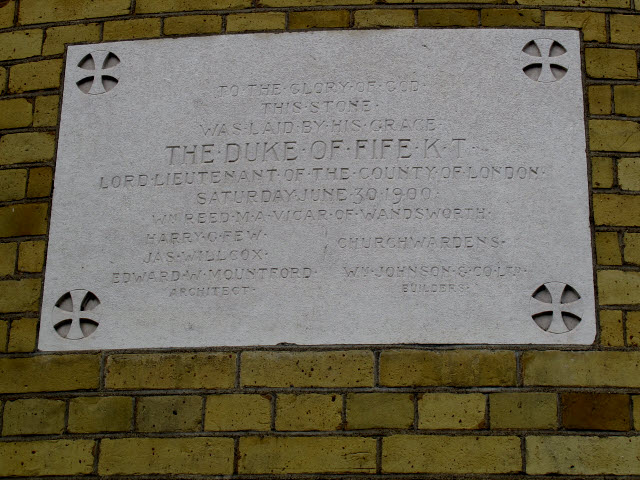 Consecration stone on All Saints chancel