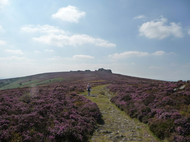 Walking the Stiperstones ridge in late summer