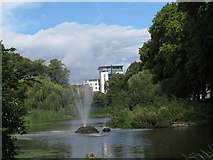 TQ2574 : Lake in King George's Park by Stephen Craven