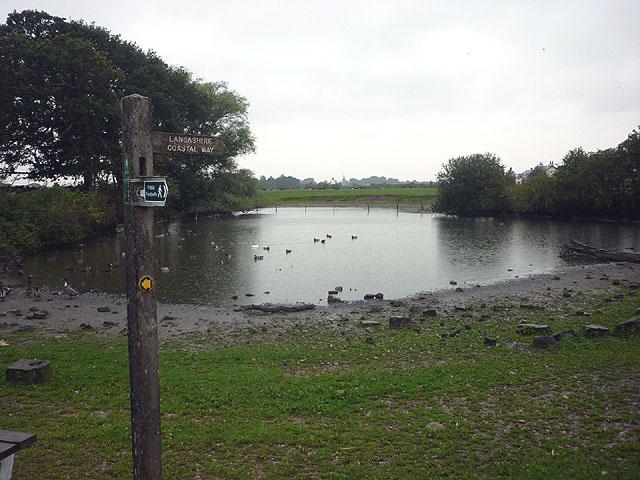 Lancashire Coastal Way sign at Pilling Hall