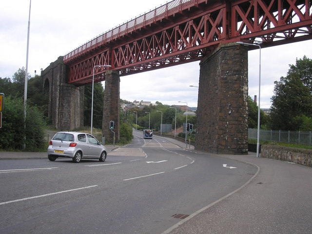 The road to Inverkeithing