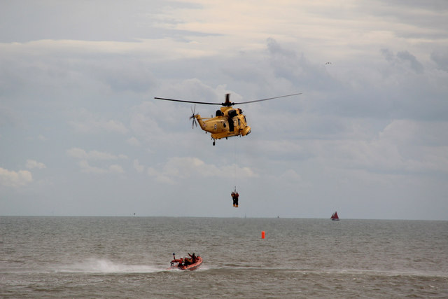 Simulated Sea Rescue, Clacton Air Show, Essex