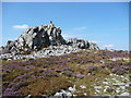 SO3698 : Walkers near Manstone Rock on the Stiperstones by Jeremy Bolwell