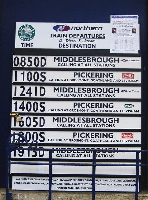 Bank holiday departures from Whitby Station, 2011