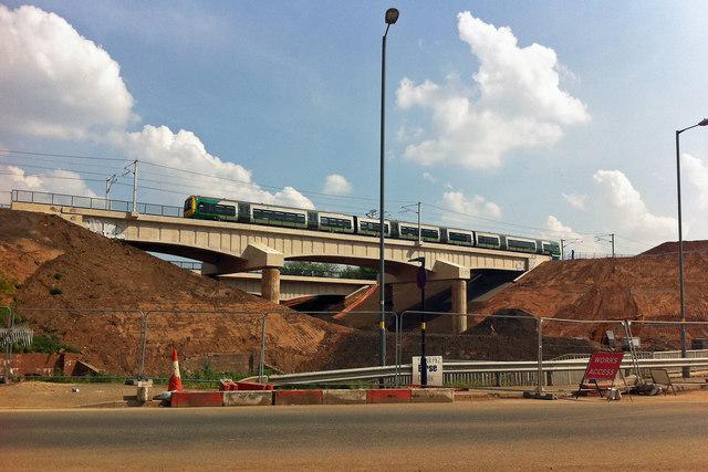 Railway bridge over Selly Oak New Road Phase 2