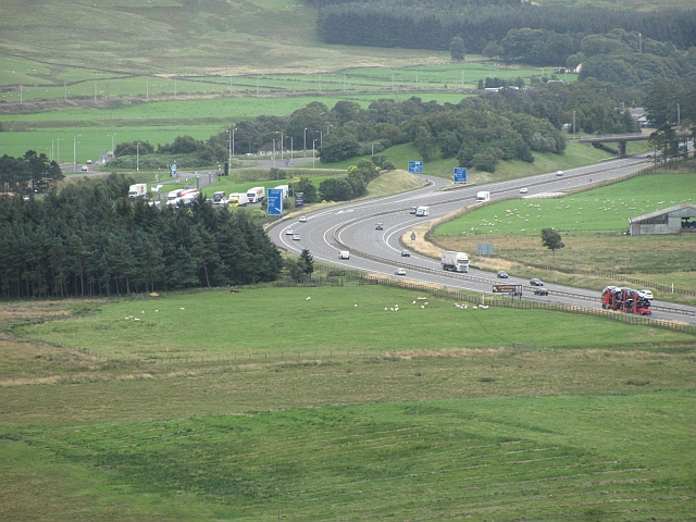 M74, seen from Forside Hill