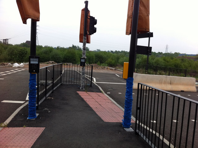 Pedestrian crossings and a road to nowhere
