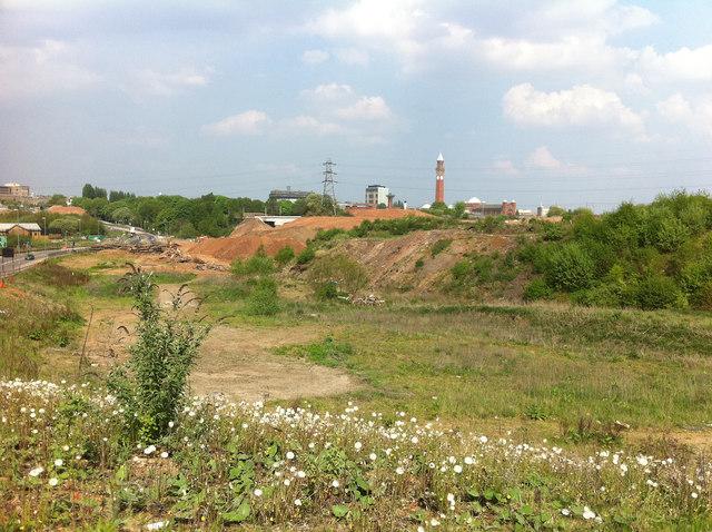 Waste land next to Aston Webb Boulevard (Selly Oak New Road, Phase 1)