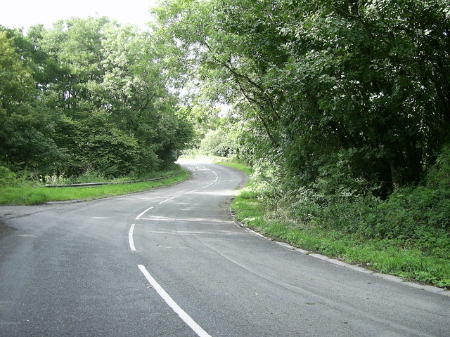 Double bend  in the road
