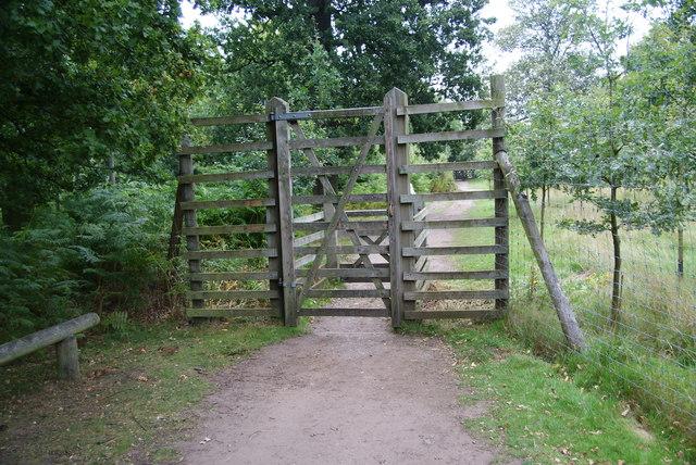 Deer-proof gate at Dunham Massey