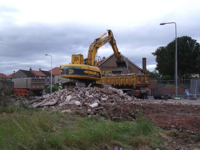 Demolition of the County Press Building