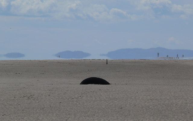 Tyre on Talacre Beach