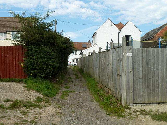 Back alley, Polegate
