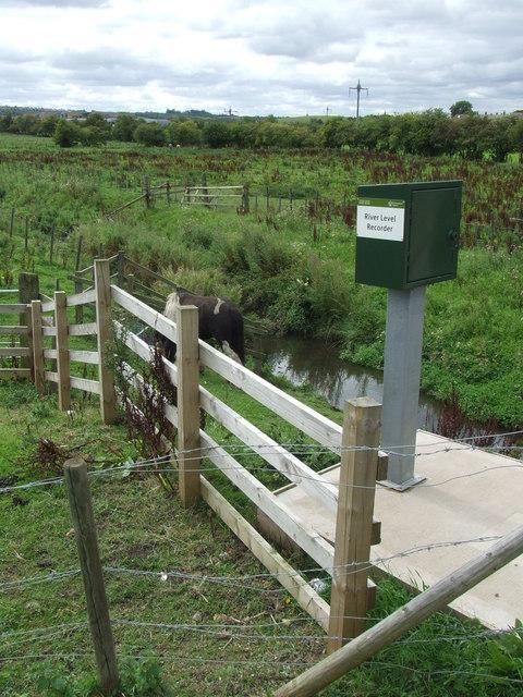 River level recorder near Houghton-le-Spring