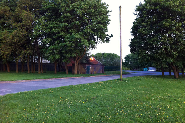 Buildings at Turn Moss Playing Fields, Stretford
