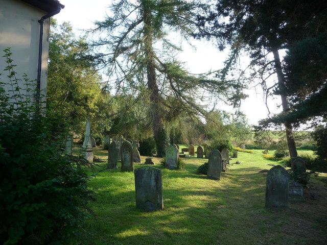 The graveyard behind Lordshill Baptist chapel