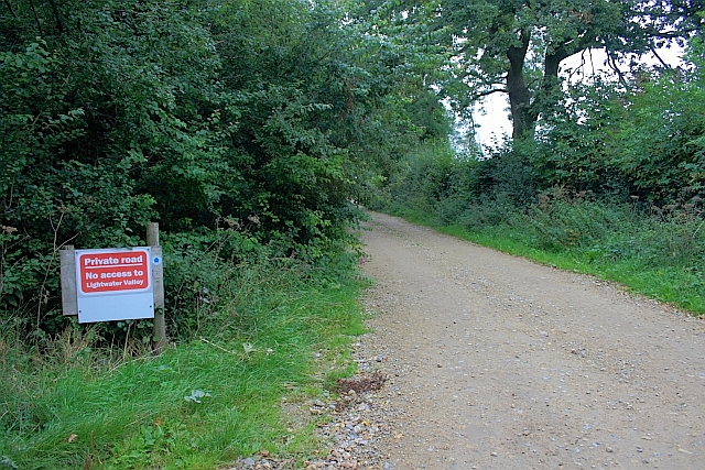 Private Road to Potgate Farm